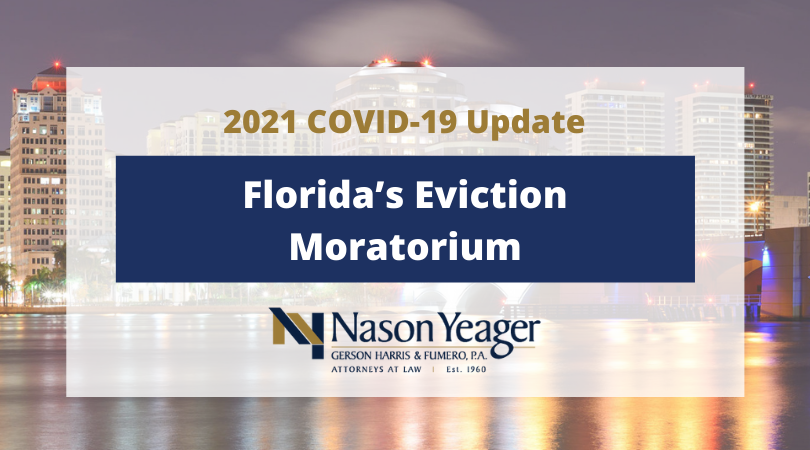 Florida's COVID-19 Eviction Moratorium: What Residential Landlords and Tenants Need to Know